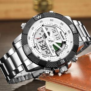 Image 4 - Men Sports Wrist Watch Mens Military Waterproof Watches Men Full Steel LED Digital Watch Clock Male reloj hombre 2018 READEEL