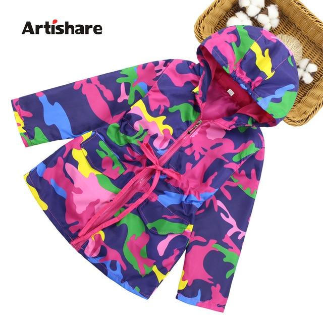 Jacket For Girls Camouflage Waterproof Girls Windbreaker Autumn Children  Outerwear   Coats Teenage Girls Clothes 8 10 12 13 Year 01407d6b9d1c