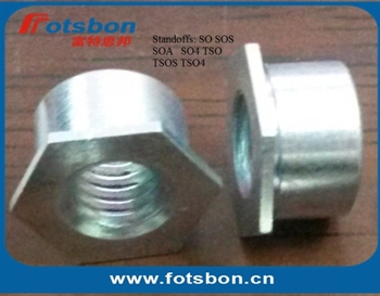 SOS-440-6 , Thru-hole Threaded Standoffs,stainless steel,nature,PEM standard, made in china,in stock,