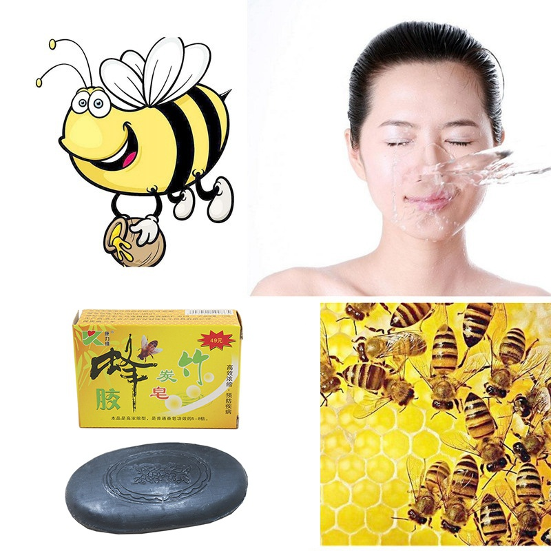 Propolis Charcoal Soap Sterilization Detoxification Wart Removal Active Energy Selenium-Rich Soap