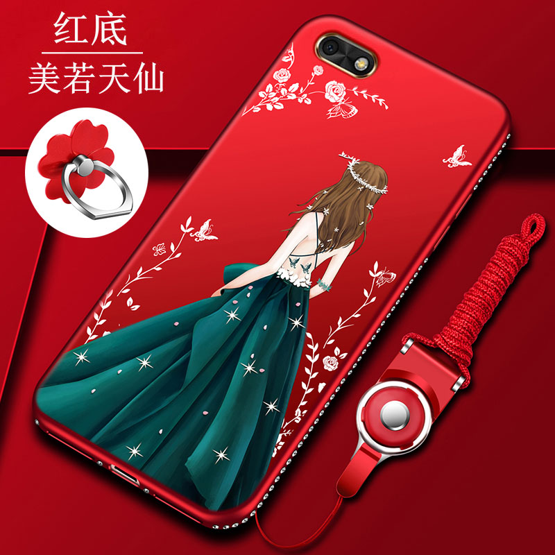 3 in 1 Fashion Jewelled Wedding Dress Girl Soft <font><b>Silicone</b></font> Ultra Thin TPU <font><b>Case</b></font> For Huawei <font><b>Honor</b></font> <font><b>7S</b></font> DUA-L22 5.45