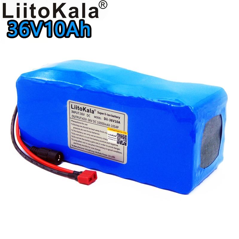 LiitoKala 2019 nouveau 36 V 10ah batterie au lithium pack 18650 li ion 10000 mAh 10s4p grande capacité bms vélo Électrique alimentation