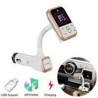 SAIYU LCD Bluetooth Car Kit משדר FM נגן MP3 דיבורית רדיו אלחוטי מתאם USB מטען + שלט רחוק BT67