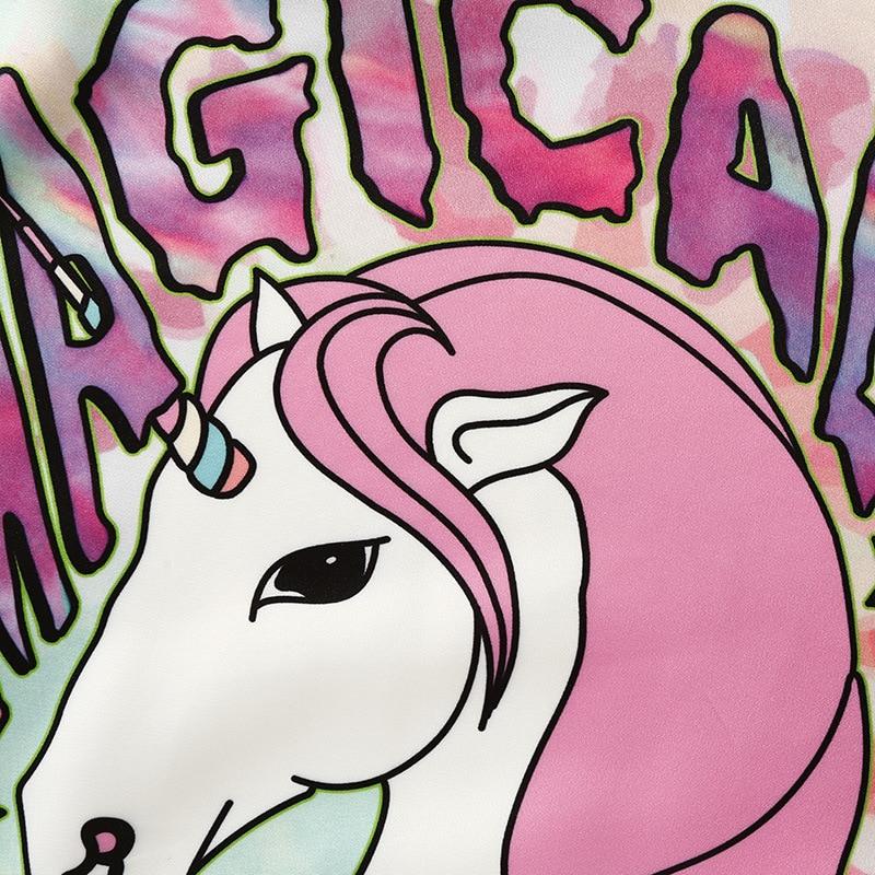 Magical Gril Unicorn Hoodie Women Tie Dye Colorful Cute Sweatshirt