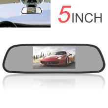 New 480 x 272 5 Inch Color TFT LCD Car Mirror Monitor Wide View Angle Car Rearview Mirror Monitor Car Rear View Reverse Monitor 7 inch tft lcd car monitor lcd multimedia player rearview mirror monitor cmm 005 e350 car rear view reversing camera