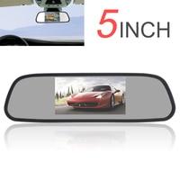 5 Inch 480x272 Màu TFT LCD Monitor Xe Gương Góc Nhìn rộng Xe Gương Chiếu Hậu Monitor Car Rear View Xếp màn hình