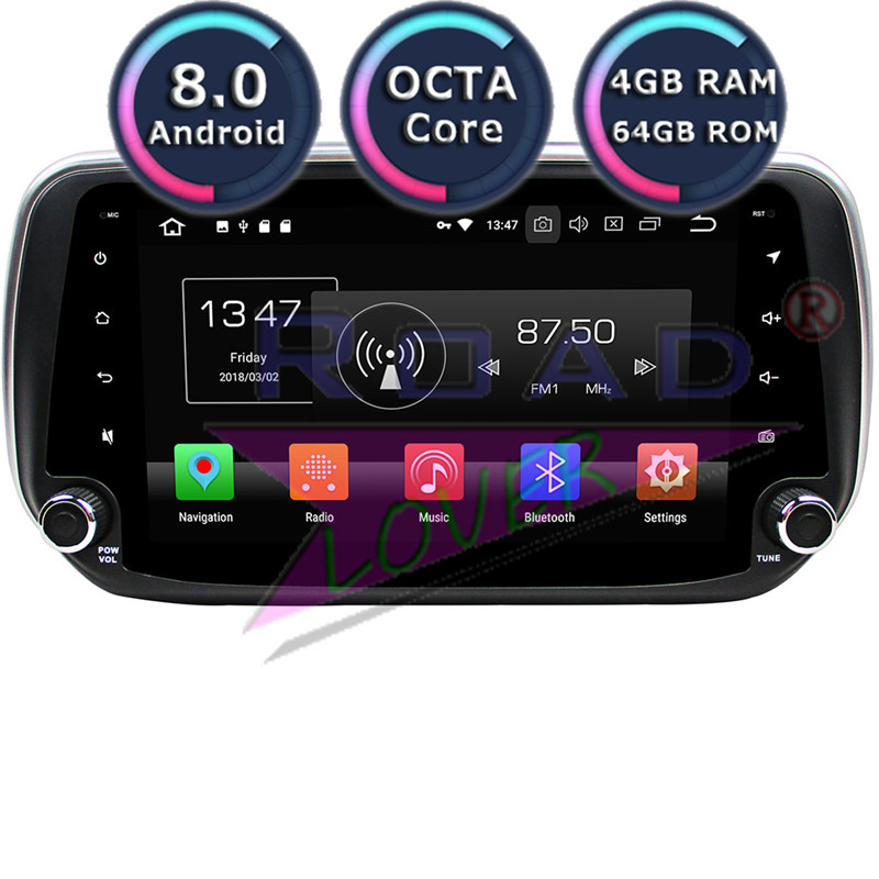 Roadlover Android 8.0 Car Magnitol Player Radio For Hyundai IX45 Santa Fe 2018 Stereo GPS Navigation 2 Din Automotive NO DVD MP3
