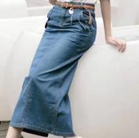 2015 New Fashion Women Summer Vintage Jeans Skirt Long Casual Pencil Denim Skirts