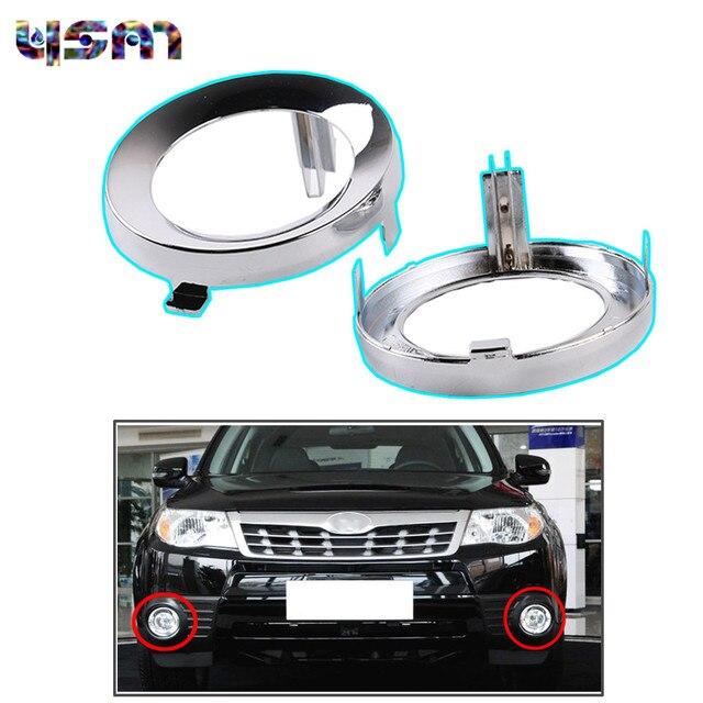 2pcs For Subaru Forester 2009 2010 Pair Front Chrome Fog Light Lamp Cover Cap Trim Ring