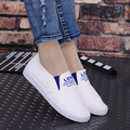 deslizamiento femenina en los zapatos de cuero cool women soft pu leather loafers women cute white slip on flat shoes for spring