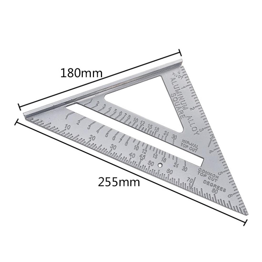 Triangle Règle Rapporteur Mitre Encadrement Mesure 7/'/' Aluminum Speed Square