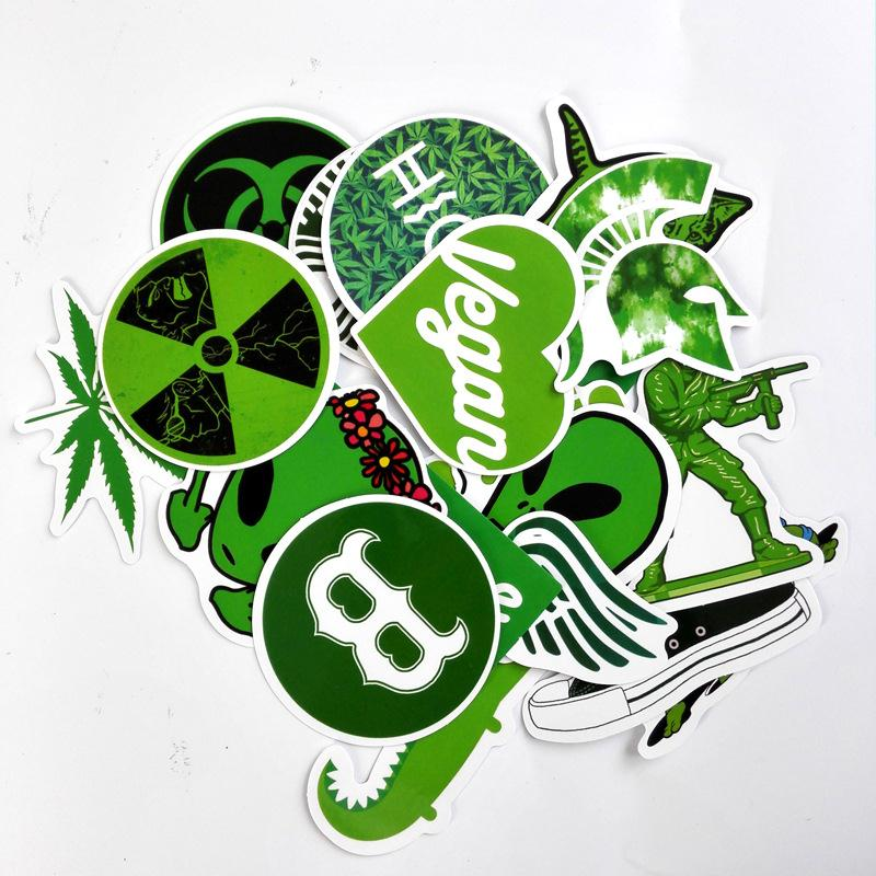 I Think Vegan Sticker Decal Bumper Car Health Food Diet Laptop Grass Fresh Earth