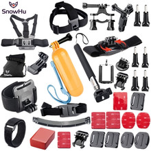 Gopro Accessories Set Helmet Harness Chest Belt Head Mount Strap for Go pro Hero 4 3+ 2 1 sj4000 xiaomi yi sjcam camera GS21