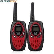 FLOUREON 8-канальный рации UHF400-470MHz двусторонней радиосвязи 3 км переговорные красный ЕС/UK