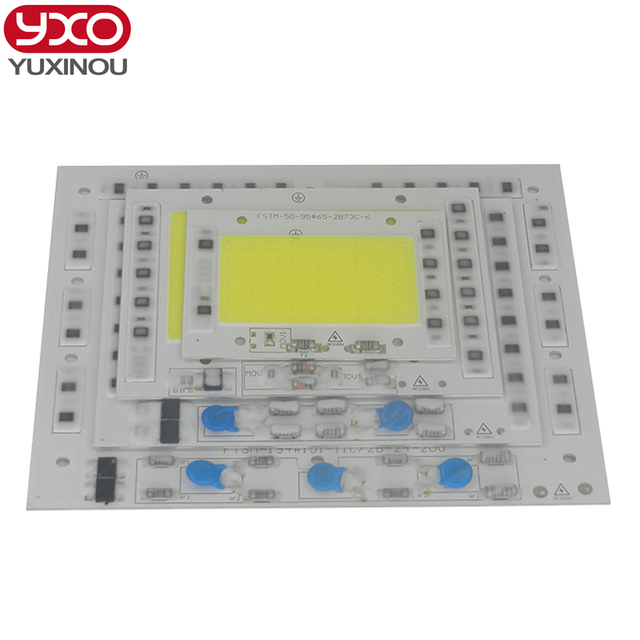 [YXO] LED COB Lamp Chip 50W 100W 150W 200W 220V Input Smart IC Driver Fit For DIY LED Floodlight Down Spot light Cold/Warm White