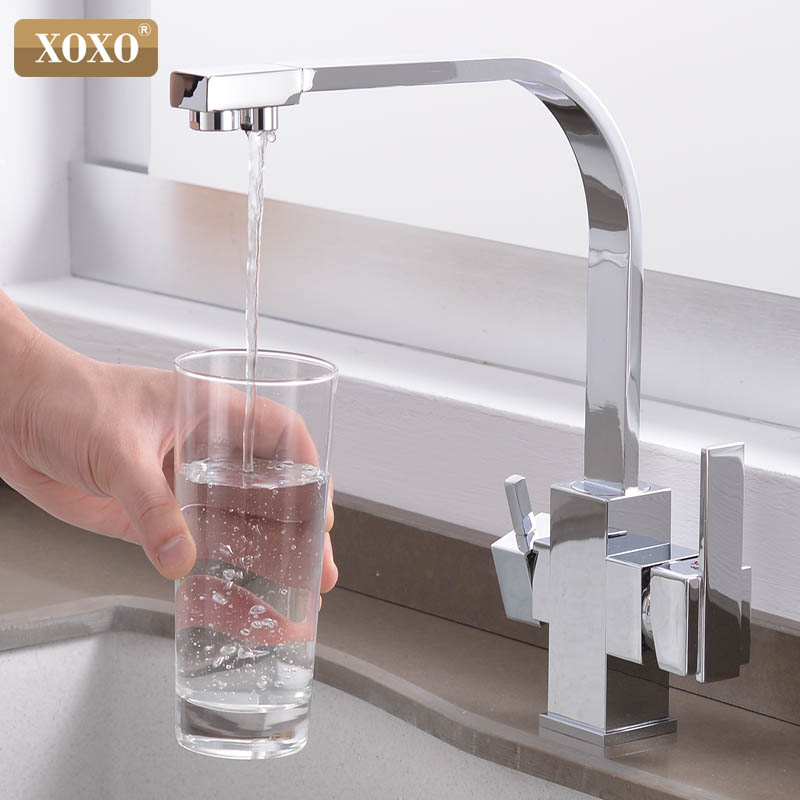 Image 3 - XOXO Filter Kitchen Faucet Drinking Water Single Hole Black Hot and cold Pure Water Sinks Deck Mounted  Mixer Tap 81058Kitchen Faucets   - AliExpress
