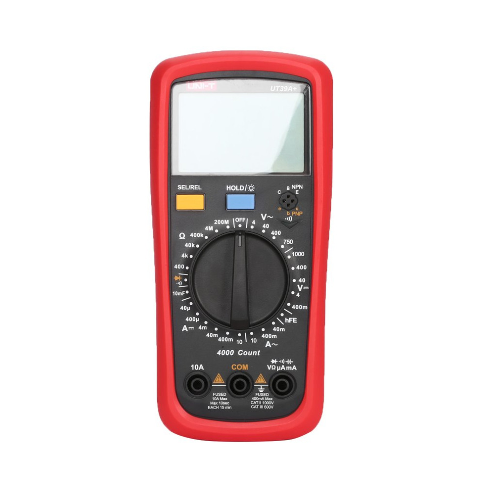 Digital Multimeter UNIT DC/AC Voltage Current Meter Handheld Ammeter Ohm Diode Capacitance Tester 4000 Counts Multitester hyelec ms89 2000 counts lcr meter ammeter multitester multifunction digital multimeter tester backlight capacitance inductance page 5