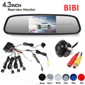 "3 in 1 Dual Core Car Video Parking Sensor Reverse Assistance Backup Radar + 360 Deg Rear View Camera + 4.3"" Mirror Monitor TFT"