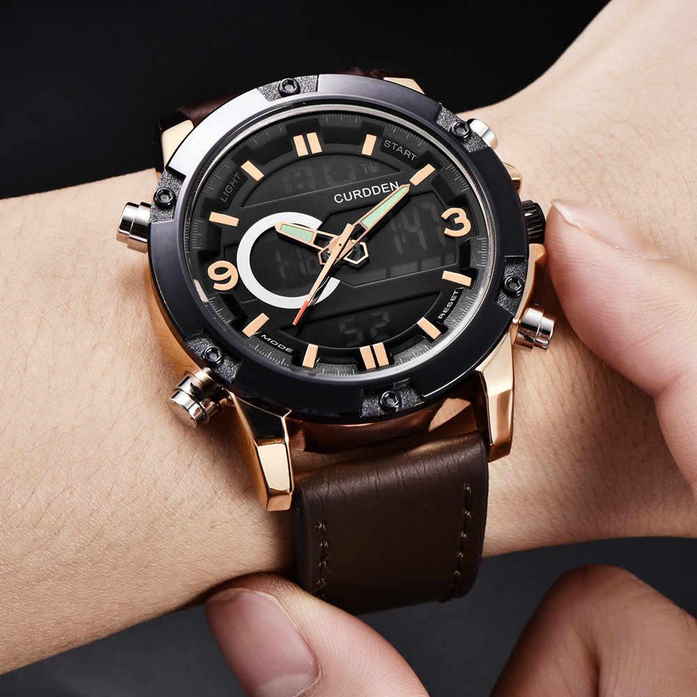 Relogio femino 2019 יוקרה Mens שעוני יוקרה מותג ספורט שעון יד הכרונוגרף קוורץ Leathe montre femme Dropshipping