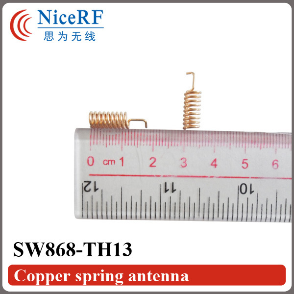 10PCS/Lot  SW868-TH13 Anti-Vibration 868MHz Copper Plated Spring Antenna/Gain 2.15 DBi Helical Antenna
