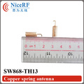 10pcs/pack Anti-vibration 868MHz Copper Plated Spring Antenna SW868-TH13