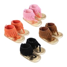 Newborn Baby Girls First Walker Summer Shoes Cute Tassels Princess Soft Shoe Prewalkers Baby Shoes