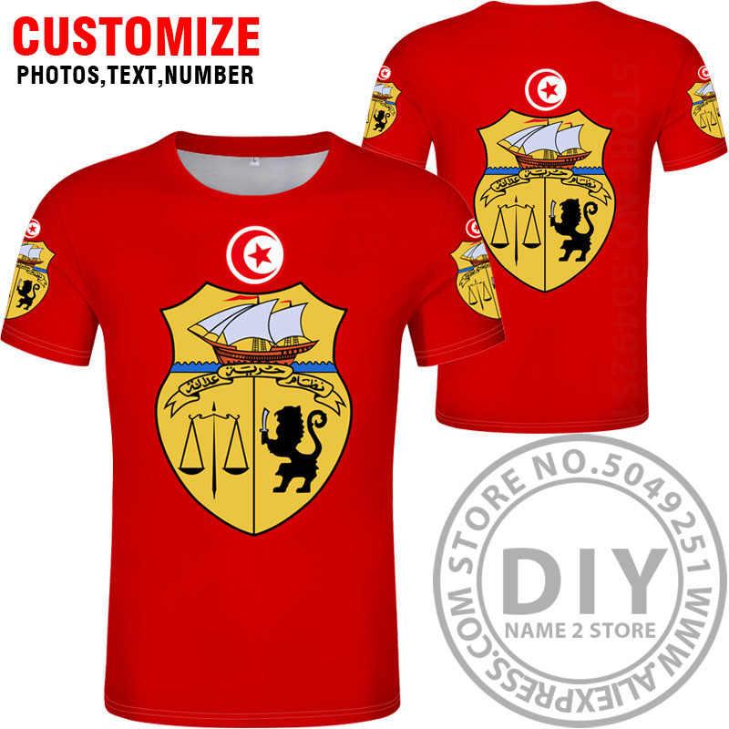 TUNISIA maglietta fai da te numero nome personalizzato gratuito tun T-Shirt nazione bandiera tunisie tn islam arabo arabo tunisino di stampa foto 0 abbigliamento