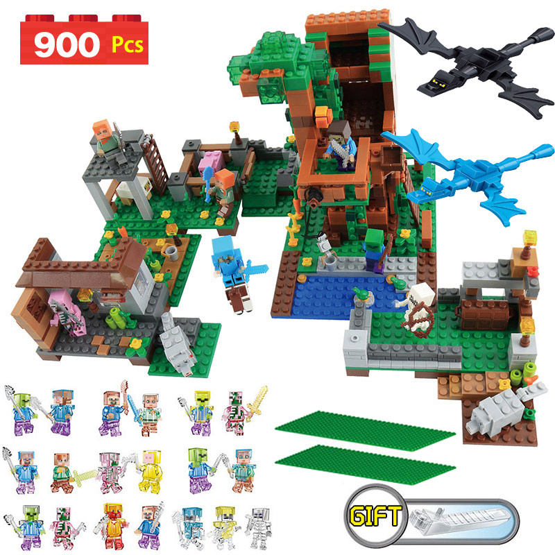 My World Series Villa Model Building Blocks Set Family Stack Construction Compatible LegoINGlys Minecrafter Kids Toys 900 Pcs