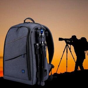 Image 1 - بولوز متعددة الوظائف مقاوم للماء خدش الرقمية DSLR كاميرا فيديو صور الكتف SLR حقيبة كاميرا ث/غطاء للمطر شحن مجاني