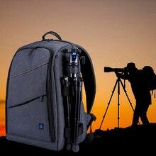PULUZ multifuncional impermeable a prueba de arañazos Digital DSLR foto de cámara Video hombro bolsa de cámara SLR w/lluvia cubierta envío gratis