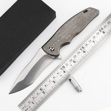 CH OEM Matsuda male KM-610 SUBARU tactical knife D2 blade TC4 titanium handle outdoor camp hunting pocket fruit knife EDC tools
