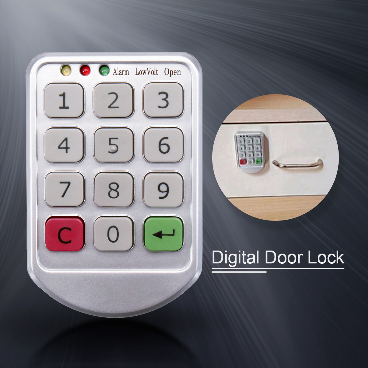 цена на Electronic Intelligent Password Keypad Number Cabinet Door Code Lock Digital Zinc Alloy and Plastic Cabinet Lock