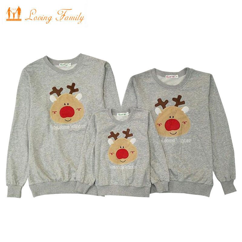 Family Clothes 2018 Christmas Deer Cotton Father Son Boys Shirt Mother Daughter Family Matching Outfits Mommy and Me Family Look new christmas family look family matching outfits t shirt color milu deer matching family clothes mother baby long sleeve cc527