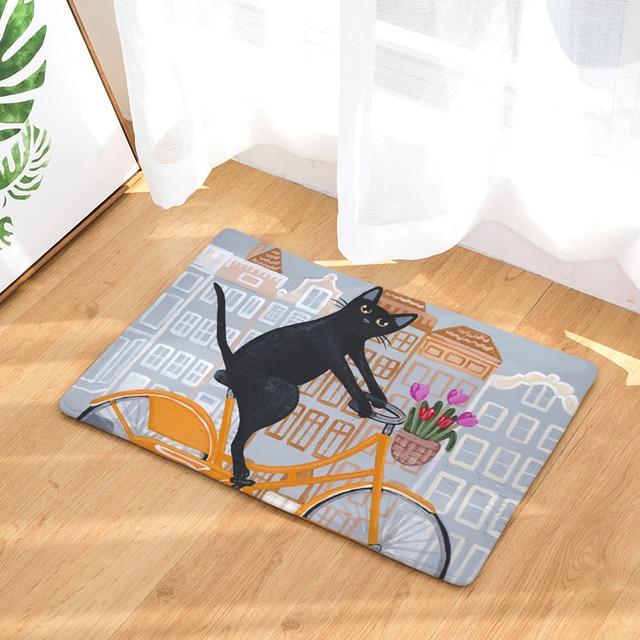 Nouveau tapis anti dérapant peinture couleur chat imprimé tapis ...