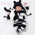 New Black&White Striped Winter Rompers For Toddler Cotton Long Sleeve Baby Girl Jumpsuits Newborn Baby Boy Clothes Bebes Roupas
