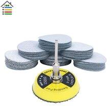 61pc מלטש דיסק 80 600 מעורב חצץ סנדר דיסקים 2 אינץ 50mm נייר זכוכית ליטוש כרית צלחת עבור dremel 4000 3000 שוחקים כלים