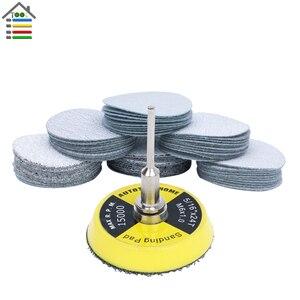Image 1 - 61pc Sanding Disc 80 600 Mixed Grit Sander Discs 2 Inch 50mm Sandpaper Polishing Pad Plate for Dremel 4000 3000 Abrasive Tools