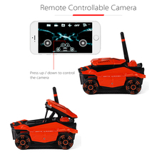 RC Tank with HD Camera ATTOP YD-211 Wifi FPV 0.3MP Camera App Remote Control Tank RC Toy Phone Controlled Robot
