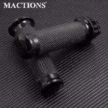 """MACTIONS オートバイグリップ1 """"25mmブラックハンドグリップハーレースポーツスター883 1200 XL XRカスタムナイトスターロードスターソフテイルヘリテージブレイクアウトツーリングダイナVRSCAハンドルバーグリップ"""