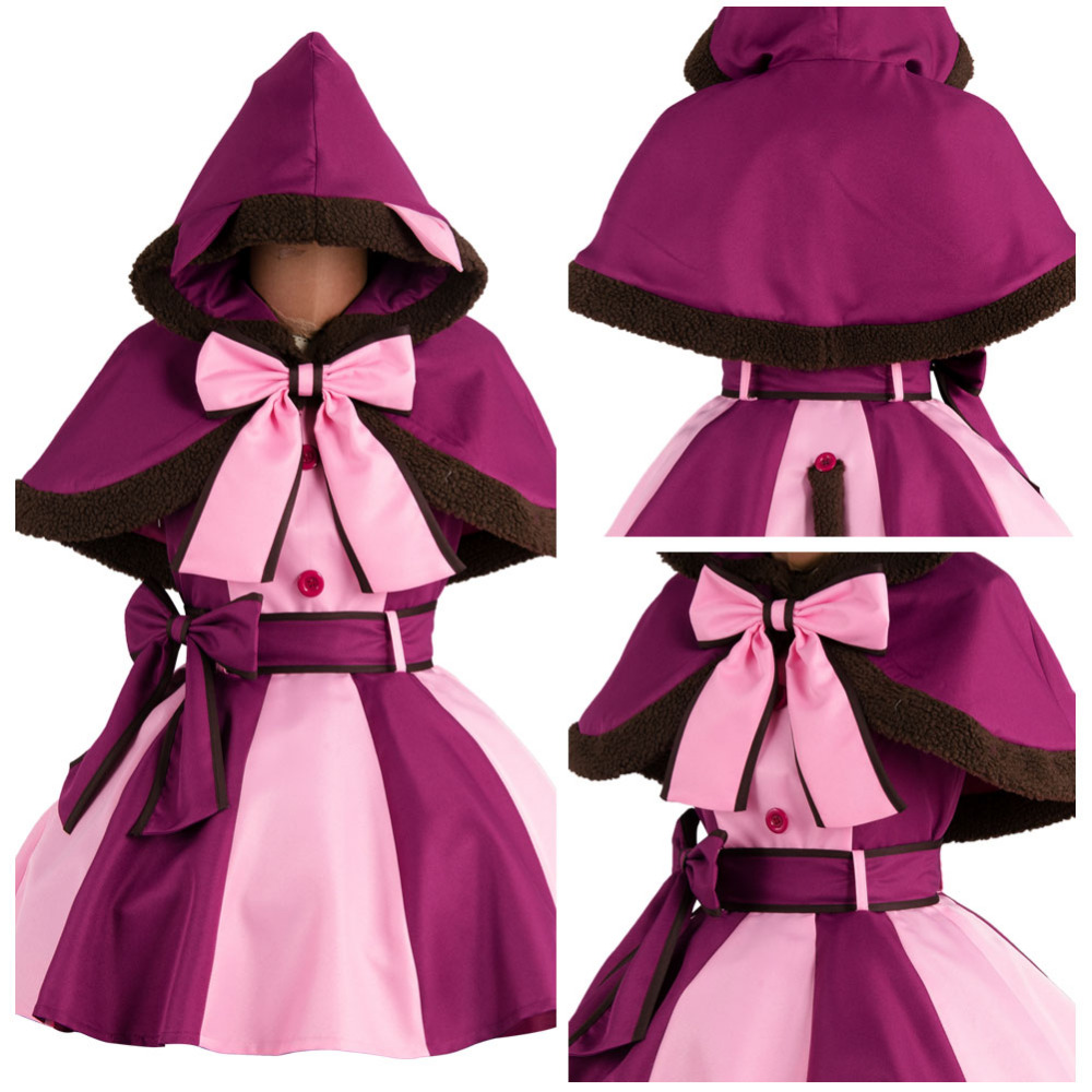 2017 New Alice In Wonderland Cheshire Cat Costume Cosplay Dress Halloween Costumes For Adult Women Girl Belt Bowknot Cloak Sock
