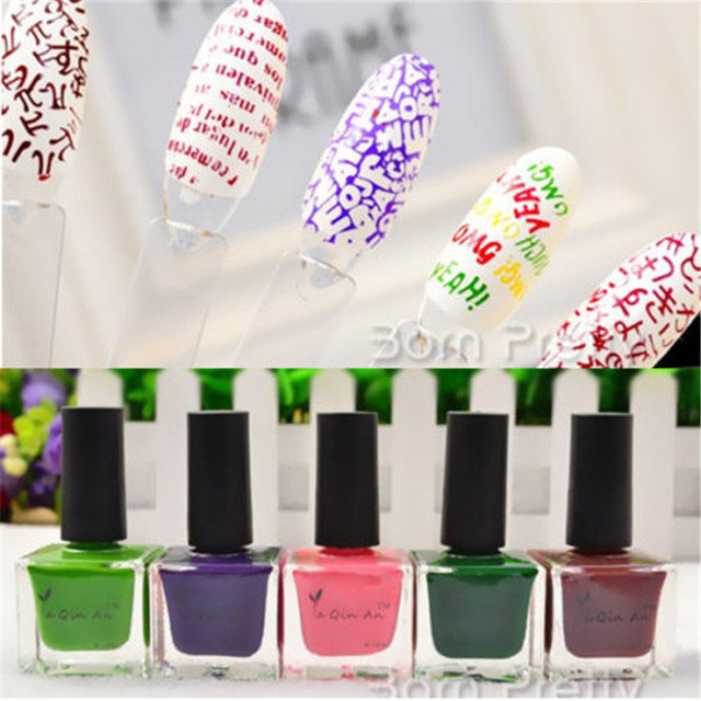 Aliexpress Buy 18ml Pink Green Purple Chocolate Nail Art Stamp