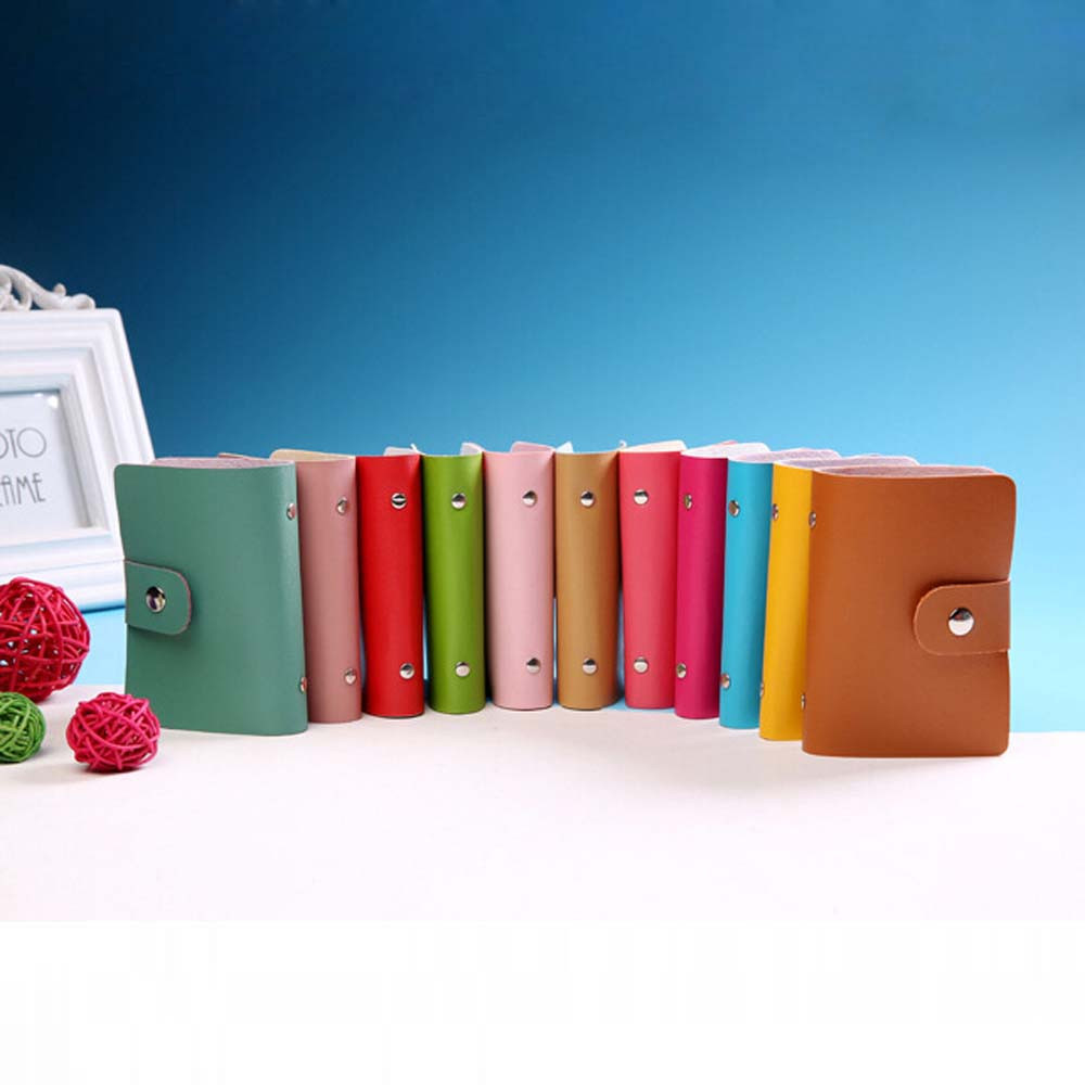 Candy color pu leather card case business card holder menwomen candy color pu leather card case business card holder men women credit card bag id card magicingreecefo Images
