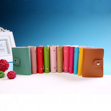 candy color PU Leather Card Case Business Card Holder Men&Women Credit Card Bag ID Card Wallet With American&European Style