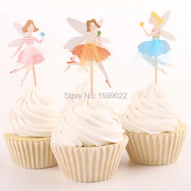 Baby Shower Cupcake Picks Decoration : 24pcs Cupcake toothpicks decoration toppers picks for ...