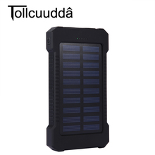 Tollcuudda Solar Power Bank 10000mah Cell Phone External Powerbank Charger For Iphone Battery Portable Bateria Externa