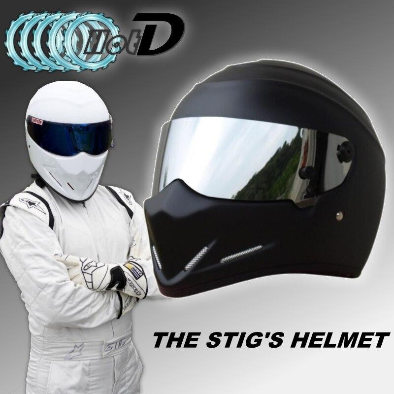 For TopGGGear The STIG Matte Black Helmet with Silver Visor / TG Fans's Collectable / Like SIMPSON Pig/ Motorcycle Stig's Helmet лонгслив stig лонгслив