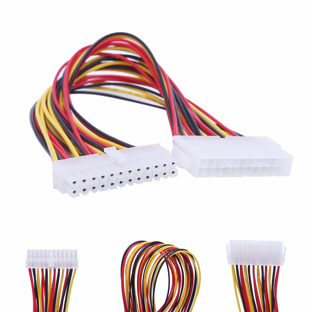 ATX 24-Pin Male To Female Connector Motherboard PSU Power Supply Extension Cable