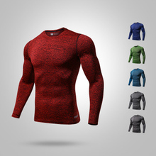 Fitness Cycling Base Layer Compression Shirt Men Long Sleeves Sport Gym Shirt Cycling Underwear Ciclismo Bodybuilding Clothes