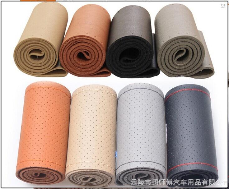 Tianshifu bil rattkåpa Real Genuine Leather god kvalitet universal - Bil interiör tillbehör - Foto 4