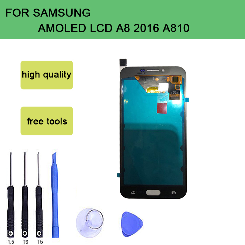 szHAIyu A810 Super AMOLED LCD Display Tested LCD Screen + Touch Screen For Samsung Galaxy A8 2016 A810 SM-A810 With ToolsszHAIyu A810 Super AMOLED LCD Display Tested LCD Screen + Touch Screen For Samsung Galaxy A8 2016 A810 SM-A810 With Tools